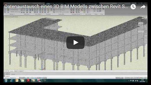 Transferul unui model BIM 3D din REVIT Structure în GRAITEC Advance Steel