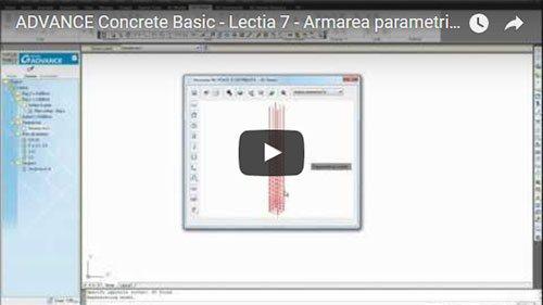 Tutorial Advance Concrete Basic, Lecţia 7: Armarea parametrică