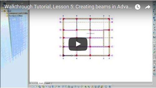 Prezentare generală Advance Concrete, Lecţia 5: Crearea grinzilor