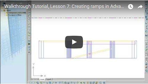 Prezentare generală Advance Concrete, Lecţia 7: Crearea rampelor