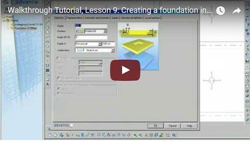 Prezentare generală Advance Concrete, Lecţia 9: Crearea unei fundaţii