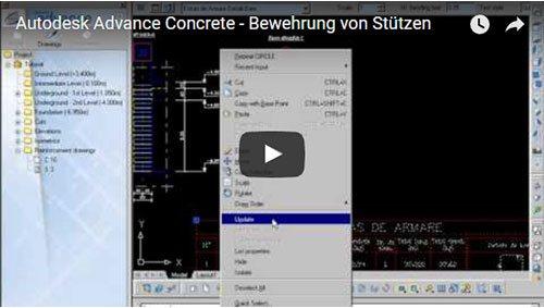 Prezentare generală Advance Concrete, Lecţia 13: Armarea unui stâlp