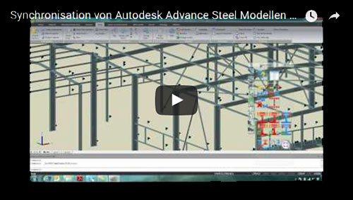Sincronizarea unui model Advance Steel cu modelul Advance Design