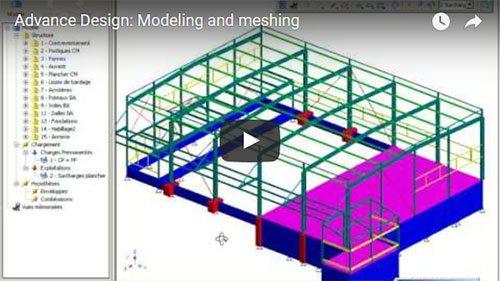 Advance Design : Modelare şi discretizare