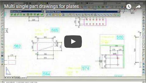 Planşă conţinând mai multe detalii pentru plăci ca elemente individuale