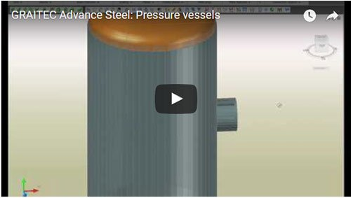 Rezervoare de presiune create în Advance Steel