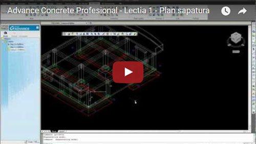 Tutorial Advance Concrete Professional, Lecţia 1: Plan săpătură