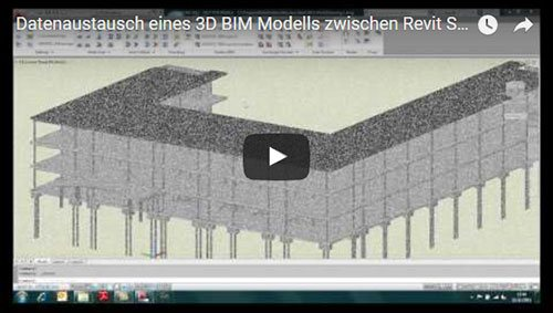 Transferul unui model BIM 3D din REVIT Structure în GRAITEC Advance Steel