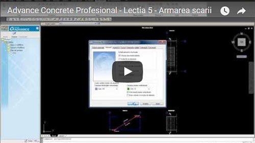 Tutorial Advance Concrete Professional, Lecţia 5: Armarea scării