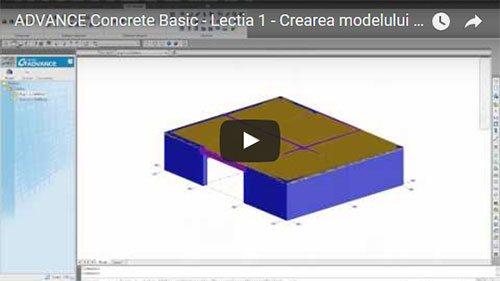 Tutorial Advance Concrete Basic, Lecţia 1: Crearea modelului structural