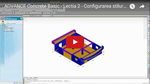 Tutorial Advance Concrete Basic, Lecţia 2: Configurarea stilurilor de reprezentare