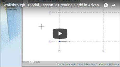 Prezentare generală Advance Concrete, Lecţia 1: Crearea unei grile