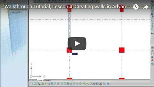 Prezentare generală Advance Concrete, Lecţia 4: Crearea pereţilor