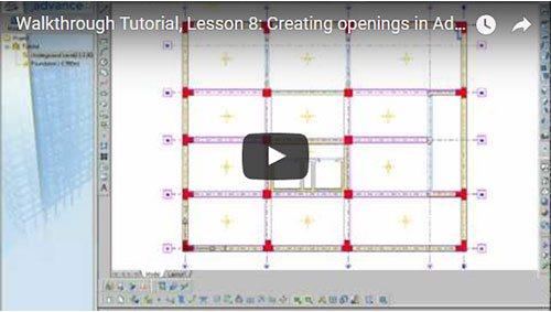 Prezentare generală Advance Concrete, Lecţia 8: Crearea golurilor