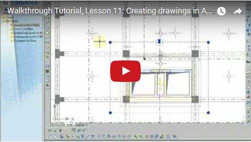 Prezentare generală Advance Concrete, Lecţia 11: Crearea desenelor