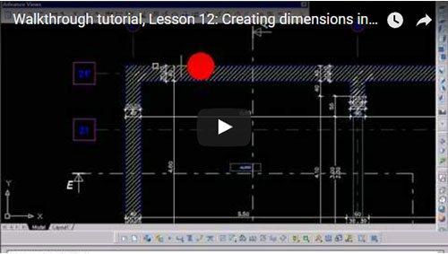 Prezentare generală Advance Concrete, Lecţia 12: Crearea cotelor