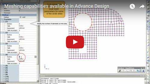 Posibilităţi de discretizare în Advance Design