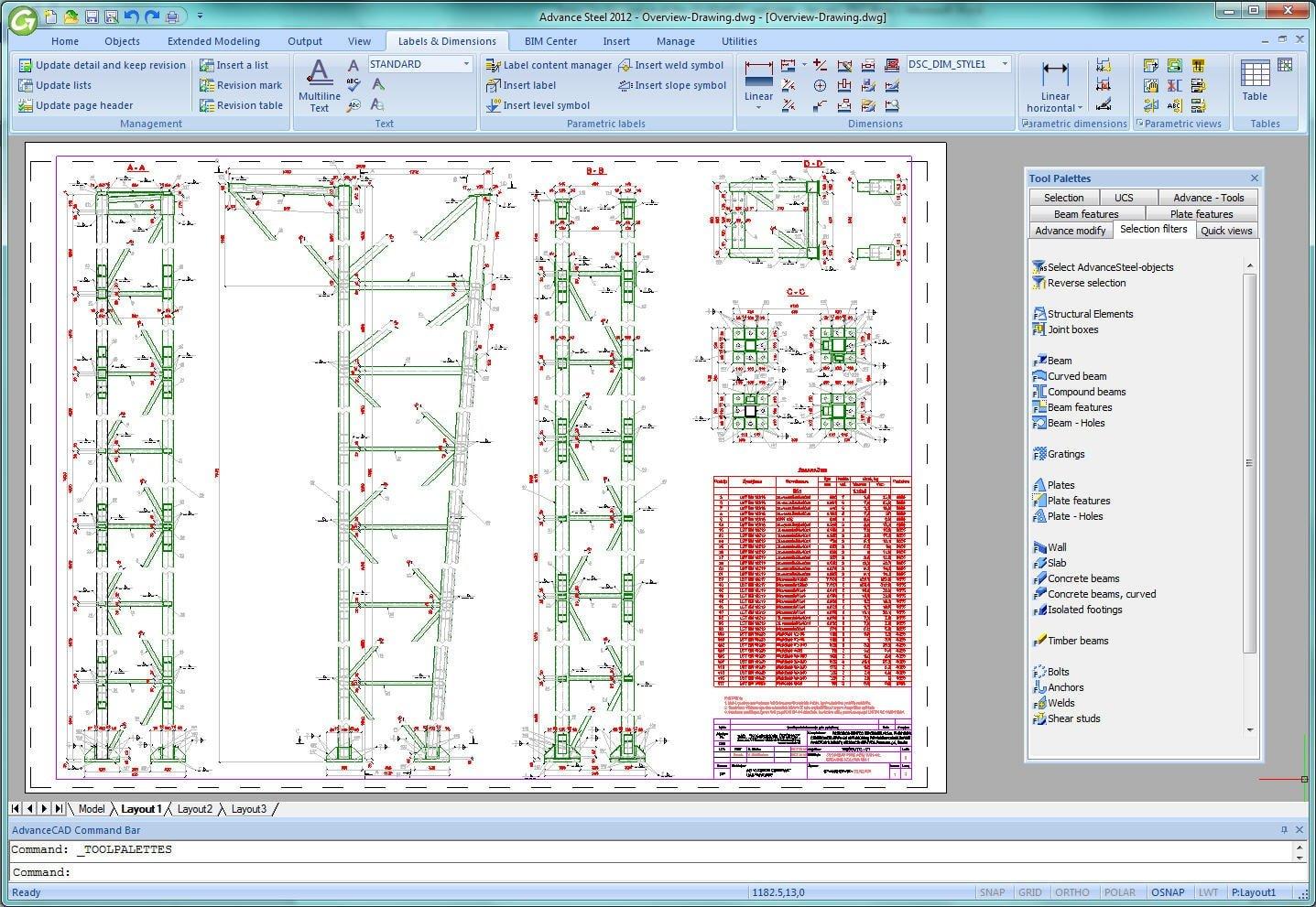 GRAITEC Autodesk Advance Steel | Planuri de detaliere create automat