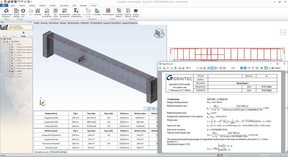 GRAITEC Advance Design | Calculul elementelor din beton armat