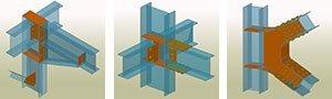 GRAITEC Autodesk Advance Steel | Galerie intuitivă de îmbinări