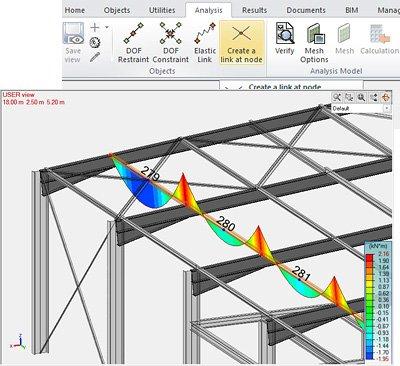 GRAITEC Advance Design 2022 -  legătura de tip nod