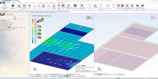 GRAITEC Advance Design 2022 - MODUL PENTRU PLĂCILE DIN BETON ARMAT