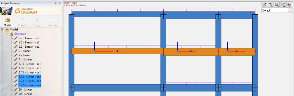 GRAITEC Advance Design 2022 - Transfer superelement în modulul de beton armat pentru grinzi