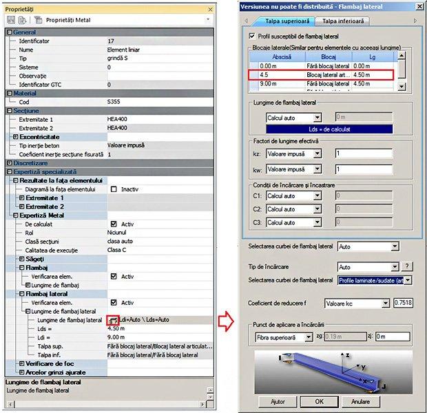 GRAITEC Advance Design | Verificarea grinzilor metalice cu secțiune I la flambaj prin încovoiere-răsucire conform SR EN 1993-1-1
