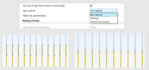 GRAITEC Advance Design - Divizare automată a barelor de armătură în modulul RC Slab