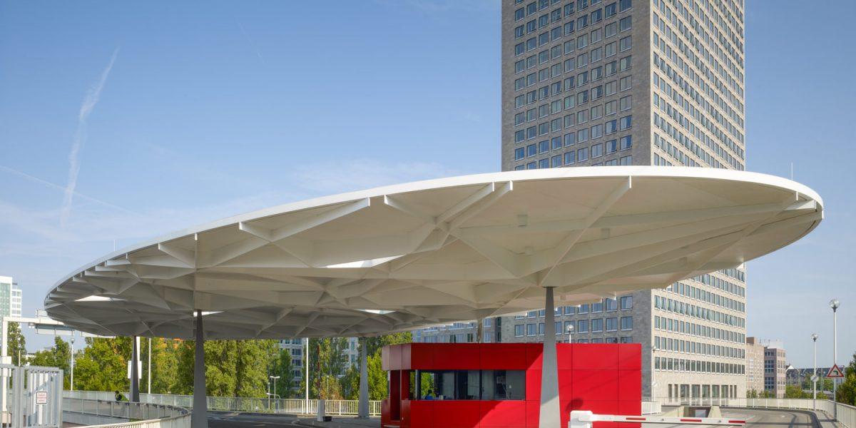 Copertină de formă ovală – Pavilionul expoziţional Frankfurt