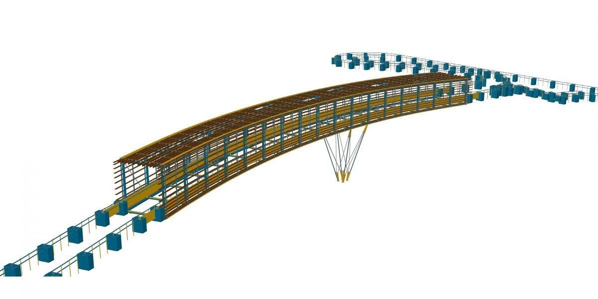 Pod pentru biciclete şi pietoni