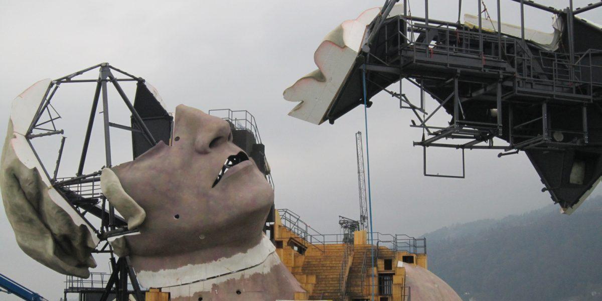 Scenă de spectacole pentru Festivalul  Bregenz, ediţia 2011/2012