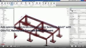 Recalcularea armăturilor grinzilor cu goluri utilizând Reinforced Concrete BIM Designers