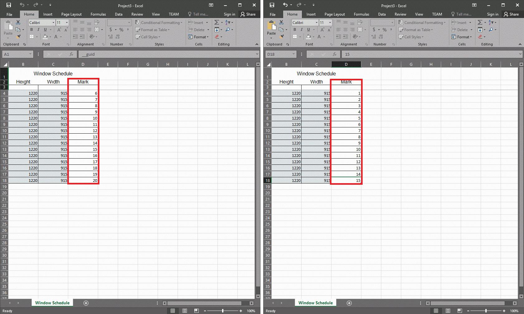 PowerPack for Revit | Legătură cu Excel