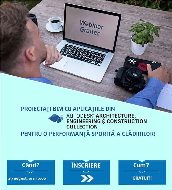 WEBINAR: Proiectați BIM cu aplicațiile din AEC Collection pentru o performanță sporită a clădirilor!