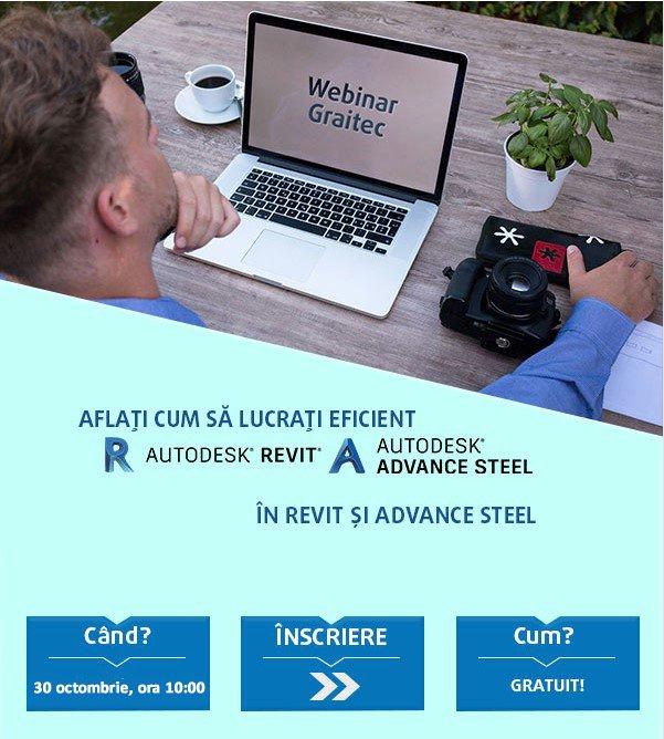WEBINAR: Aflați cum să lucrați eficient în Revit și Advance Steel
