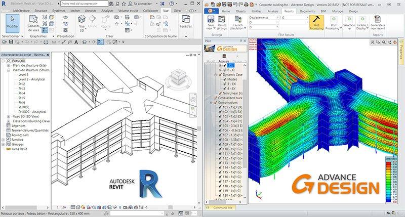 GRAITEC Advance Design - Conectivitate BIM