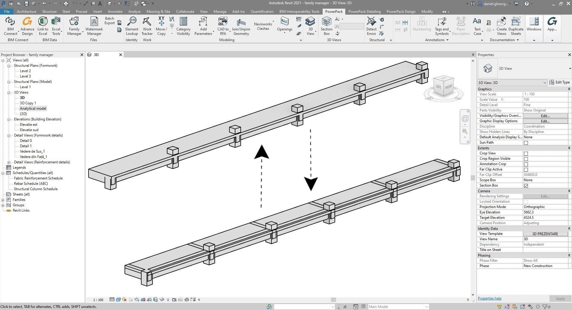 Powerpack Revit - Unire/Separare geometrie