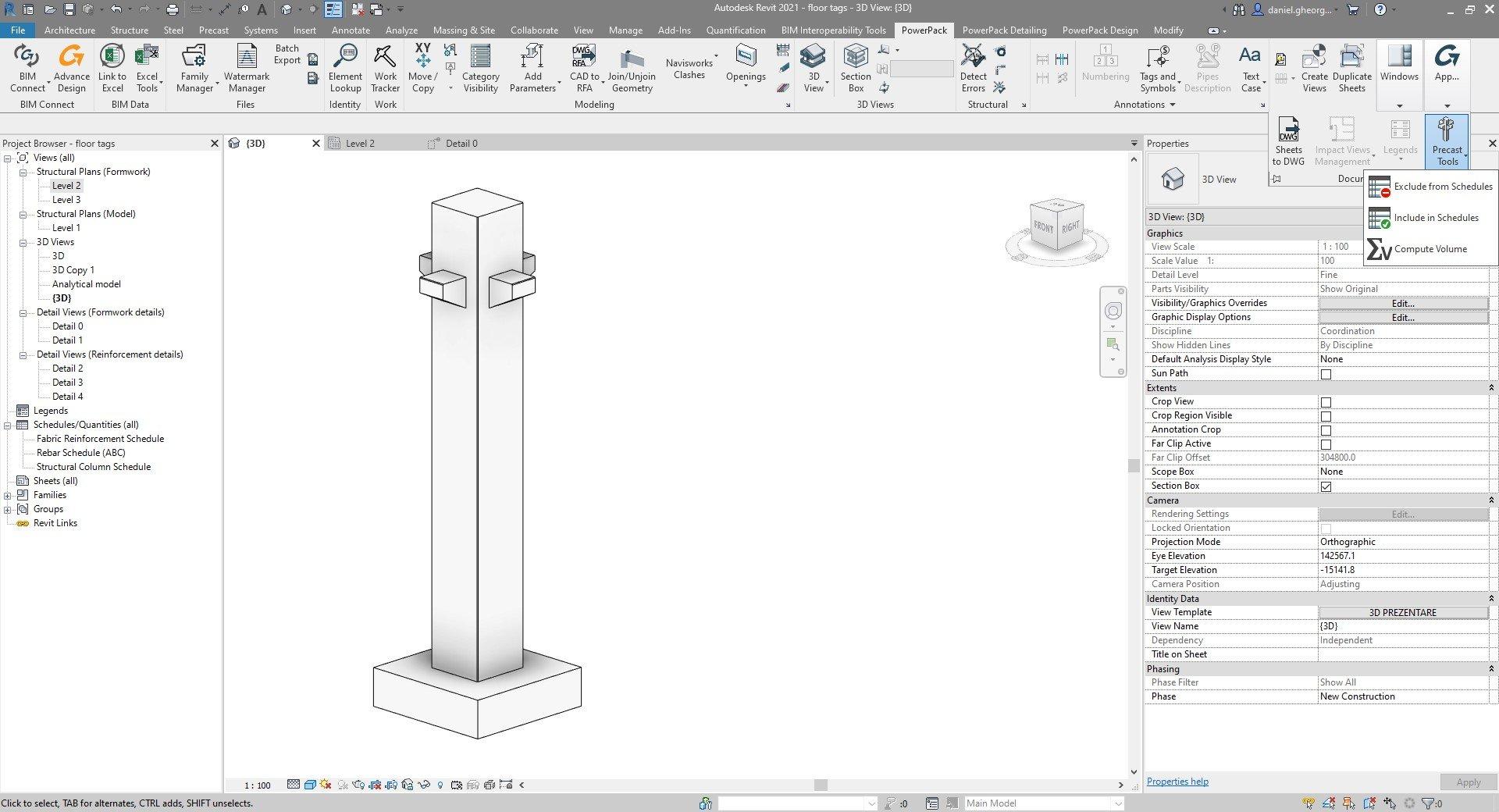 Powerpack Revit - Elemente prefabricate