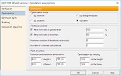 GRAITEC Advance Design - Optimizare secțiuni