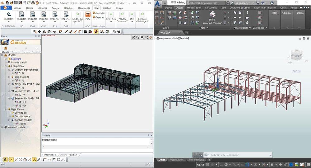 GRAITEC Advance Design Conectivitate Autodesk Advance Steel