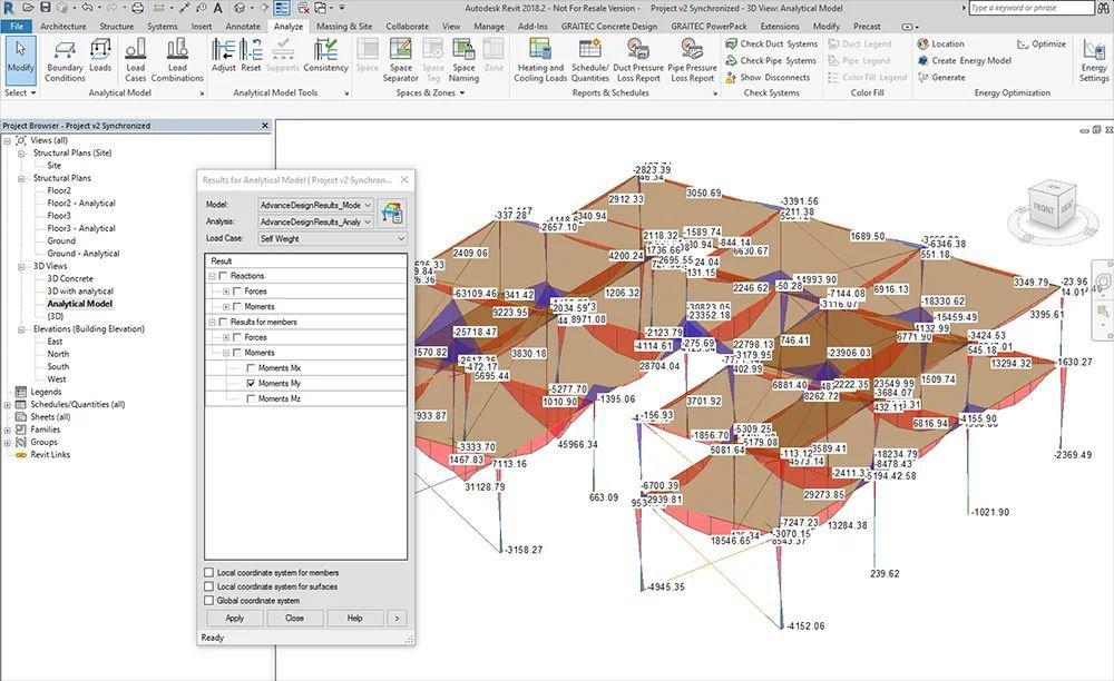 GRAITEC Advance Design - Integrare Autodesk Revit