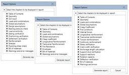 GRAITEC Advance Design - Rapoarte de calcul