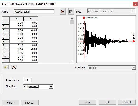 GRAITEC Advance Design - Analiză dinamică temporală