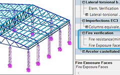 GRAITEC Advance Design - Verificare la foc