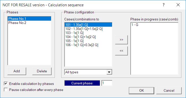 GRAITEC Advance Design - Calcul pe etape